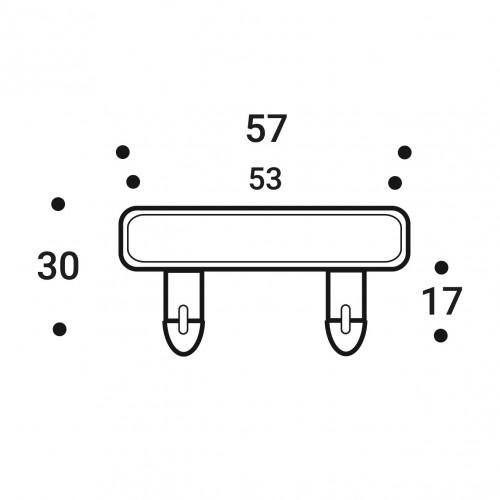 Латодержатель накладной (двусторонний) 53х8 мм.