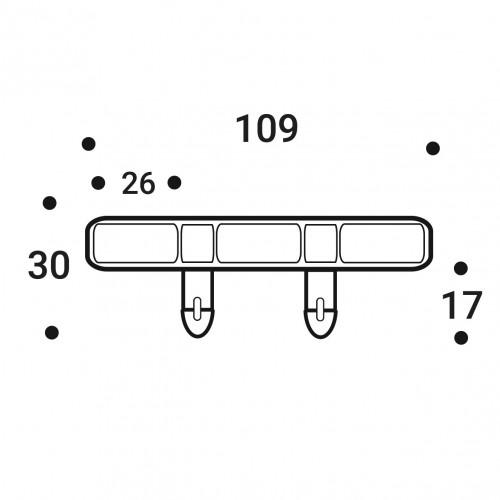 Латодержатель накладной 25 мм. (LUX)