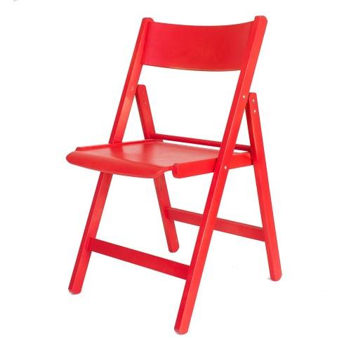 """Складной стул «Рекс», цвет """"Красный"""""""